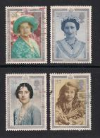 UK, 1990, Cancelled Stamp(s) , Queen Mother 90 Years,  1275-1278, #14541 - Used Stamps