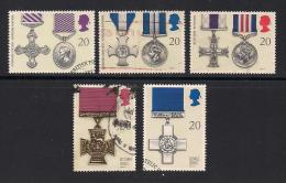 UK, 1990, Cancelled Stamp(s) , Galantry Awards,  1290-1294, #14542 - Used Stamps