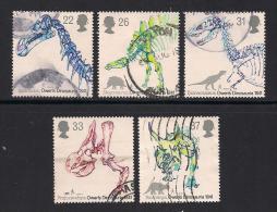 UK, 1991, Cancelled Stamp(s) , Dinocaurs,  1350-1354, #14552 - 1952-.... (Elizabeth II)