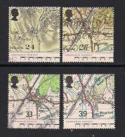 UK, 1991, Cancelled Stamp(s) , Ordnance Survey,  1363-1366, #14553 - Used Stamps