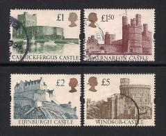 UK, 1992, Cancelled Stamp(s) , Castles,  1396-1399, #14560 - Used Stamps