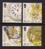 UK, 1993, Cancelled Stamp(s) , Johan Harrison Inventer,  1441-1444, #14569 - 1952-.... (Elizabeth II)