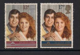 UK, 1986, Cancelled Stamps , Royal Wedding, 1081-1082, #14472 - 1952-.... (Elizabeth II)