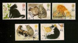 UK, 1995, Cancelled Stamp(s) , Cats  ,  1544-1548  #14588 - 1952-.... (Elizabeth II)