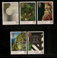 UK, 1995, Cancelled Stamp(s) , Centenary National Trust ,  1564-1568,  #14590 - 1952-.... (Elizabeth II)