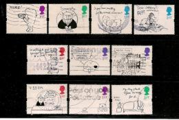 UK, 1996, Cancelled Stamp(s) , Greeting Stamps,  1605-1614  #14595 - Used Stamps