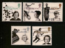 UK, 1996, Cancelled Stamp(s) , EUROPA Famous Women,  1647-1651,  #14599 - 1952-.... (Elizabeth II)