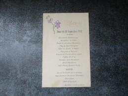 DINER à L´Hotel SENAT De CAZERES-sur-GARONNE - Menus