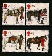 UK, 1997, Cancelled Stamp(s) , Queen's Horses,  1701-1704  #14606 - 1952-.... (Elizabeth II)