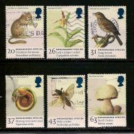 UK, 1998, Cancelled Stamp(s) , Endangered Species,  1723-1728 #14611 - 1952-.... (Elizabeth II)