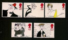 UK, 1998, Cancelled Stamp(s) , Comedians,  1749-1753 #14614 - 1952-.... (Elizabeth II)