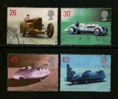 UK, 1998, Cancelled Stamp(s) , Land Speed Record Holders,  1767=1771 #14618 (4 Values Only) - 1952-.... (Elizabeth II)