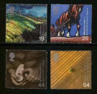 UK, 1999, Cancelled Stamp(s) , Millenium Series The Farmers,  Sg1417-1420, #14628 - 1952-.... (Elizabeth II)
