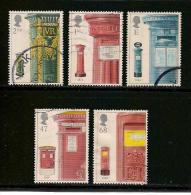 UK, 2002, Cancelled Stamp(s) , First Post Pillar Boxes ,  Sg1614-1618, #14211 - 1952-.... (Elizabeth II)