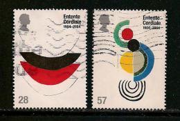 UK, 2004, Cancelled Stamp(s) , Entente Cordiale ,  Sg1732-1733, #14213 - 1952-.... (Elizabeth II)