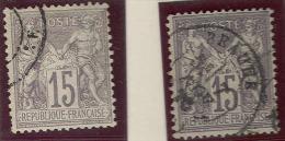 France    69, Used, 2 Different. Shades, Sound, 4 Margins       (fr069-5 ,  Mich 61l      [16-CF - 1876-1878 Sage (Type I)