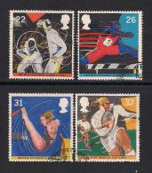 UK, 1991, Cancelled Stamp(s) , World Student Games,  1341-1344, #14550 - Used Stamps