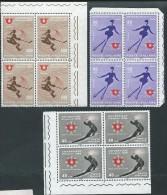 Italia 1966 ; Universiade D' Inverno, Universiadi Serie Completa : 3 Quartine D' Angolo - 1961-70:  Nuovi