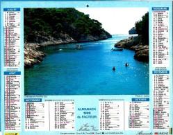 ALMANACH DES P.T.T 1992 (57) - Complet ** LE CANADEL (83) - CALANQUE DE PORT PIN (13) **Calendrier * JEAN LAVIGNE * - Calendriers