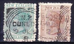 NOUVELLE-ZELANDE 1882 YT N° 63 Et 64 Obl. - 1855-1907 Crown Colony