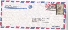 Air Mail JAMAICA Illus ADVERT COVER CARLTON MOTOR Stamps WOODPECKER Bird CHRISTMAS Church To GB Religion Birds - Jamaica (1962-...)