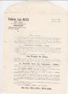 Lettre Publicité De Jemappes ,poelerie Léon Maton Pour Les Forges De Ciney (cuisinière) - Publicités