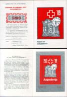 Yugoslavia 1989 Red Cross, Solidarity, Perforated + Imperforated Booklet MNH - Portomarken