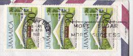 1981 JAMAICA Cover SUGAR SLOGAN More SUGAR MORE SUCCESS To GB Stamps - Food