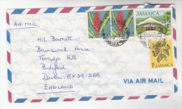 1978 Air Mail  JAMAICA COVER Multi Stamps To GB - Jamaique (1962-...)