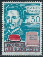 Italia 1961 Nuovo** - Nievo - 6. 1946-.. Repubblica