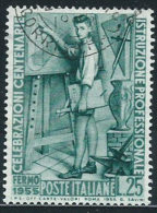 Italia 1955 Usato - Istruzione Professionale - 6. 1946-.. Republik