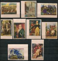 T34 - EQUATORIAL GUINEA 1976 Set Of 9 Stamps. IMPERFORATE. PRESENTATION PROOFS. USA Bi-Centennial. MNH ** - Equatorial Guinea