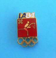 OLYMPIC GAMES LOS ANGELES 1984. - EQUESTRIAN SPORT Pin Badge * Equitation équestre Reiter Pferdsport Equestri Hipico - Equitation