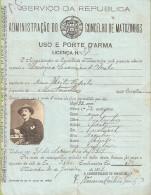 Matosinhos - Licença De Uso E Porte De Arma. Porto. Portugal. - Ohne Zuordnung