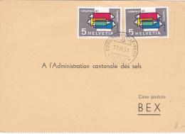 Carte De Commande à L'Administration Cantonale Des Sels, Bex - Oblitérée Combremont Le Petit Le 19.II.57 - Schweiz