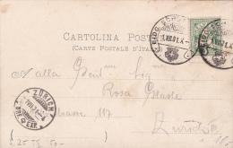 """Carte Avec Oblitération S 25 - """" EIDG.SCHÜT... """" Oblitérée Le 1.VII.01 - 1882-1906 Armoiries, Helvetia Debout & UPU"""