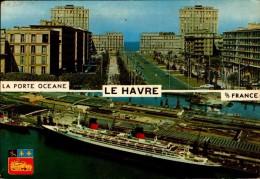 76-LE HAVRE..2 VUES ..LA PORTE OCEANE ET LE FRANCE...CPM - Le Havre