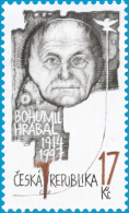 """Czech Rep. / Stamps (2014) 0802: Bohumil Hrabal (1914-1997) Writer """"Closely Watched Trains""""; Painter: Martina Richterova - Cinema"""