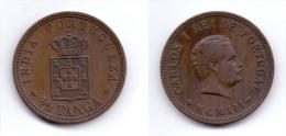 India Portuguese 1/2 Tanga 1903 - Indien