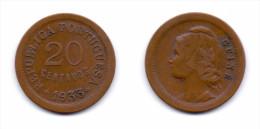 Guinea Portuguese 20 Centavos 1933 - Guinea-Bissau
