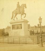 France Paris Statue Equestre De Henri IV Ancienne Photo Stereoscope Debitte Et Hervé 1870 - Photos Stéréoscopiques