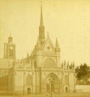 France Paris Eglise Saint-Laurent Ancienne Photo Stereoscope Debitte Et Hervé 1870 - Stereoscopic