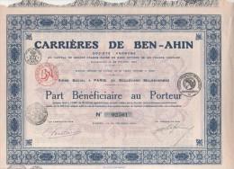 ALGERIE-CARRIERES DE BEN-AHIN. PARIS - Shareholdings