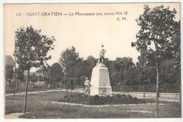 95 - SAINT-GRATIEN - Le Monument Aux Morts 1914-18 - EM 681 - Saint Gratien