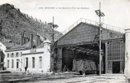 Cpa (73)modane  -  La Gare Et Le  Fort Du Replaton - Modane