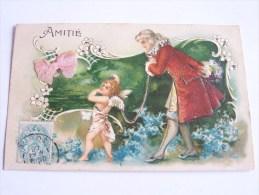ANGES ANGE ANGELOT  GENTIHOMME PETIT NOEUD QUELQUES BRILLANTS CPA GAUFREE - Engelen