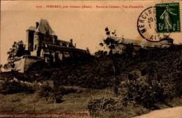 02-PERNANT...FERME ET CHATEAU..VUE D'ENSEMBLE...CPA - Other Municipalities