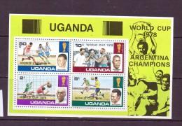 OUGANDA-UGANDA  1978 FOOTBALL SURCHAGE:WORLD CUP 1978   YVERT N°B9  NEUF MNH** - World Cup