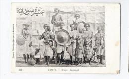 CPA EGYPTE - Groupe Soudanais -  SUPERBE PLAN Et Portrait - Gros Plan De Personnages - Otros