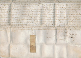 351DT - Lettre 1611 Sur Parchemin En Peau Avec Rubans De Fermeture - Mention De WATERMAEL - 1598-1621 (Independent Netherlands)